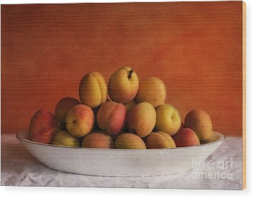 Apricot Delight Wood Print by Priska Wettstein