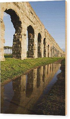 Aqua Claudia Aqueduct Wood Print
