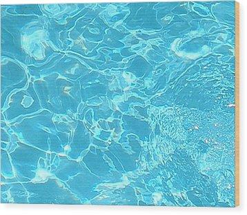 Aquatica Wood Print by Maria Bonnier-Perez