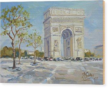 Arc De Triomphe, Paris Wood Print