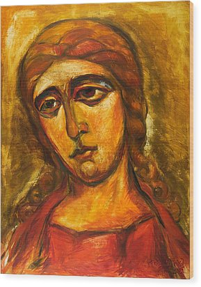 Archangel Gabriel Wood Print by Ekaterina  Prozheyko