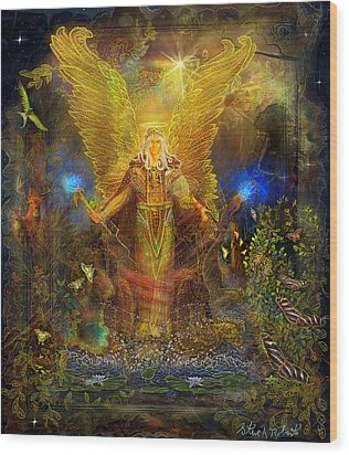 Archangel Michael-angel Tarot Card Wood Print