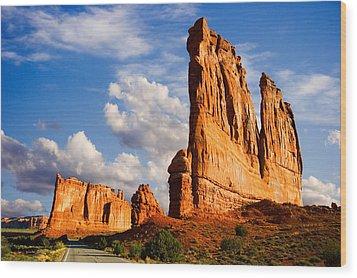 Arches National Park Utah Wood Print by Utah Images