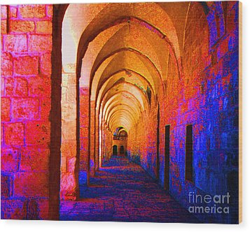 Arches Surreal Wood Print by Merton Allen