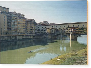 Arno River In Florence Italy Wood Print by Marna Edwards Flavell