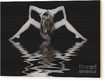 Art Of A Woman Wood Print by Jt PhotoDesign