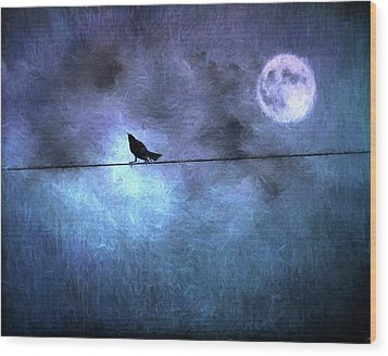 Wood Print featuring the photograph Ask Me For The Moon by Jan Amiss Photography