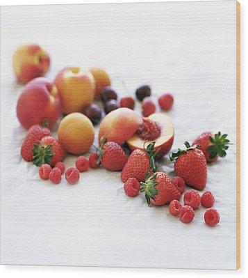 Assortment Of Summer Fruit Wood Print by David Munns
