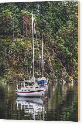 At Anchor Wood Print by Randy Hall
