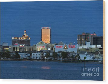 Atlantic City Skyline Wood Print by John Greim