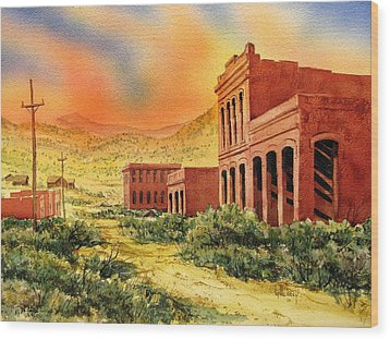 Aurora Ghost Town Nevada Wood Print by Kevin Heaney