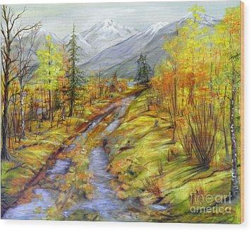 Autumn At The Estuary  Wood Print