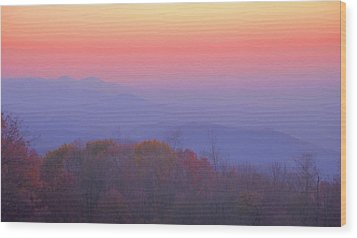 Wood Print featuring the photograph Autumn Dawn by Stephen  Vecchiotti