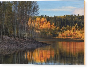 Autumn In The Wasatch Mountains Wood Print