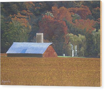 Autumn Of Our Father's Wood Print by Harvey Rogosin