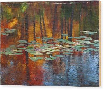 Autumn Reflections I Wood Print by Ron Morecraft