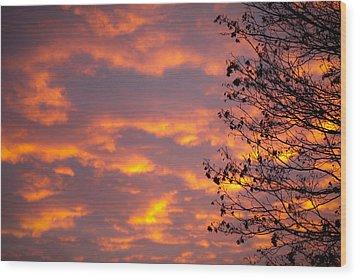 Autumn Sky Wood Print by Konstantin Dikovsky