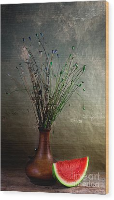 Autumn Still Life Wood Print by Nailia Schwarz