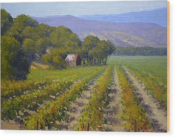 Autumn Vines Wood Print