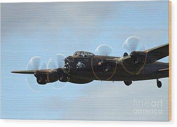 Avro Lancaster Wood Print by Angel  Tarantella