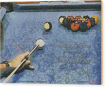 Awareness Zen Pool Wood Print by Max Eberle