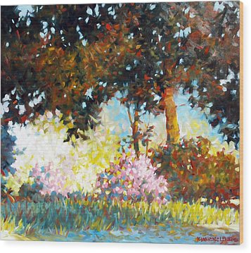 Azaleas Wood Print by Kevin Lawrence Leveque