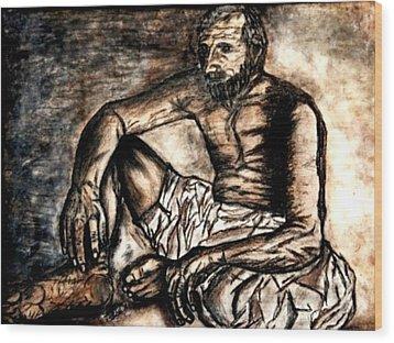 Baba Jee Wood Print