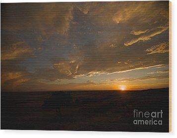 Badlands Sunset Wood Print by Chris Brewington Photography LLC