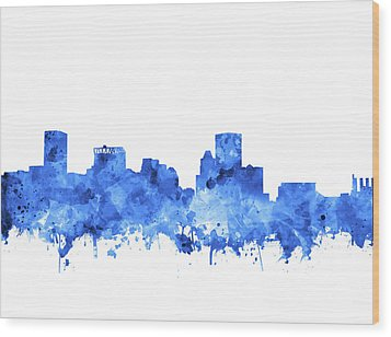 Wood Print featuring the painting Baltimore Skyline Watercolor 7 by Bekim Art