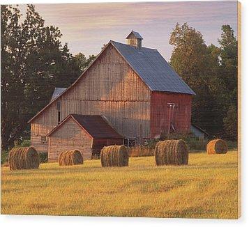 Barn. North Hero, Vermont Wood Print