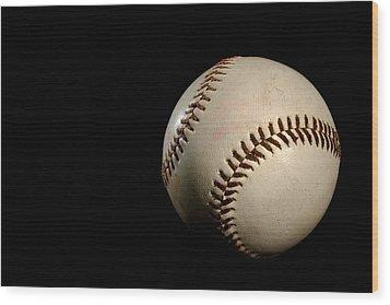 Baseball Ball Wood Print by Felix M Cobos