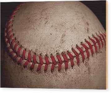 Wood Print featuring the photograph Baseball Seams by David Patterson