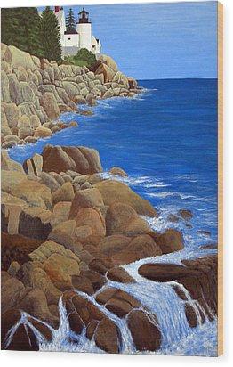 Bass Harbor Head Lighthouse Wood Print by Frederic Kohli