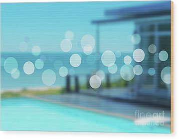 Wood Print featuring the photograph Beach Resort Concept by Atiketta Sangasaeng