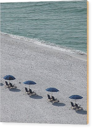 Wood Print featuring the photograph Beach Therapy 1 by Marie Hicks
