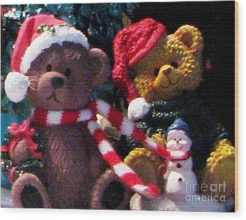 Beary Merry Christmas Wood Print