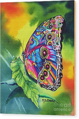 Beatrice Butterfly Wood Print by Maria Barry