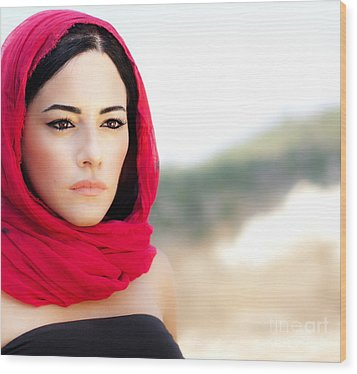 Beautiful Arabic Woman Wood Print