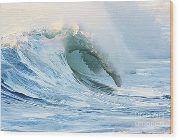 Beautiful Wave Breaking Wood Print by Vince Cavataio - Printscapes