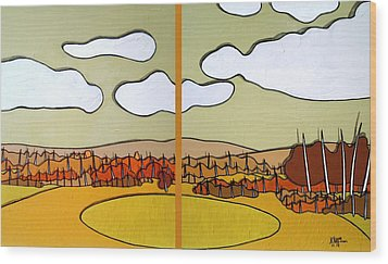 Beautiful Yellow Day Wood Print by Jason Charles Allen