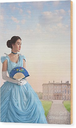 Wood Print featuring the photograph Beautiful Young Victorian Woman by Lee Avison