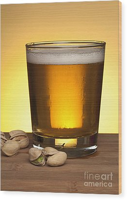 Beer In Glass Wood Print by Blink Images