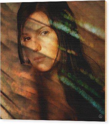 Wood Print featuring the digital art Behind The Curtain by Gun Legler