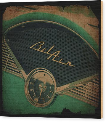 Wood Print featuring the photograph Belair Dashboard by Joel Witmeyer