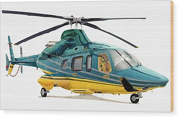 Bell 430 Wood Print by Lyle Brown