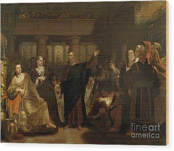 Belshazzar's Feast Wood Print by Washington Allston