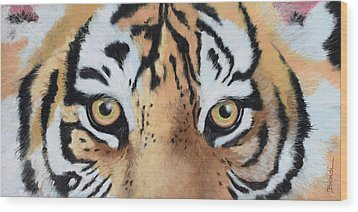 Bengal Eyes Wood Print