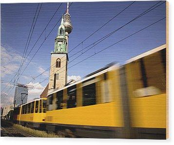 Berlin Tram Wood Print