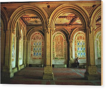 Wood Print featuring the photograph Bethesda Terrace Arcade by Jessica Jenney