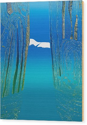 Between Two Mountains. Wood Print by Jarle Rosseland